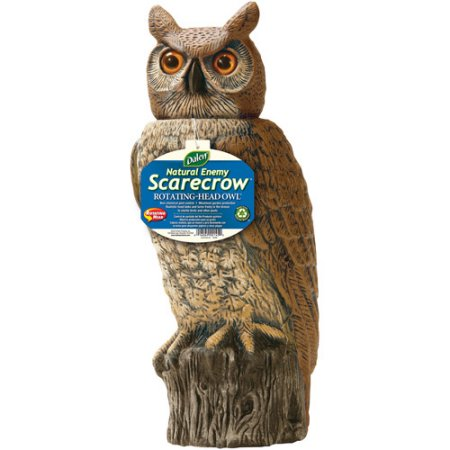 Dalen Natural Enemy Scarecrow Rotating Head Owl